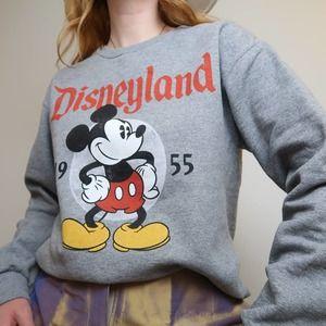 Disneyland Paris grey Mickey Mouse crew sweatshirt